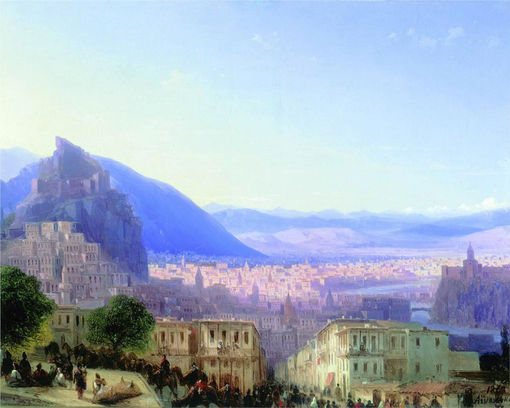 Ivan Aivazovsky - View of Tiflis (1868)