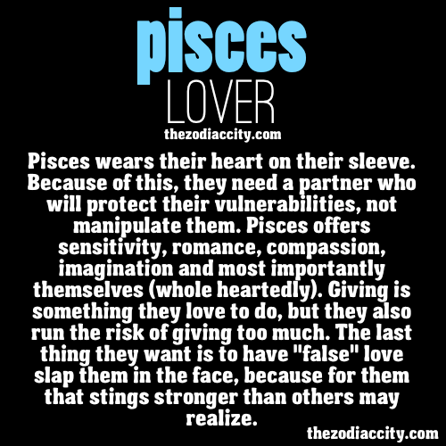 zodiaccity:  The Pisces lover.