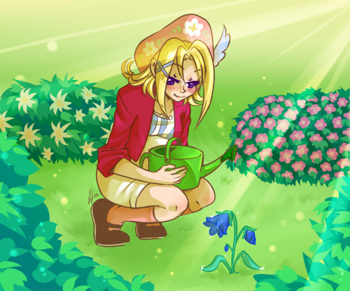 why do I never draw Gretel actually farming/gardening