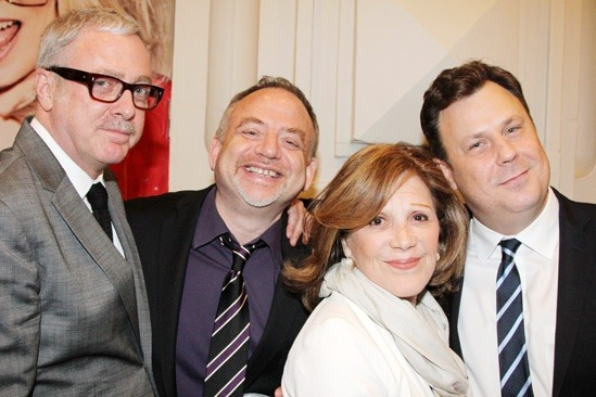 Scott Wittman, Marc Shaiman, Linda Lavin (via Broadway.com | Photo 47 of 63 | Hollywood & Stage Royalty Welcome Bette Midler Back to Broadway in I'll Eat You Last)