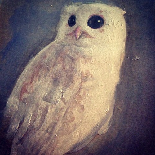 Sometimes you just want to paint an owl #illustration #art #painting