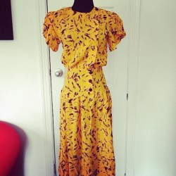 Now isn't this #vintage #mustard #dress the cutest thing you ever seen? Www.vintageworldrocks.com