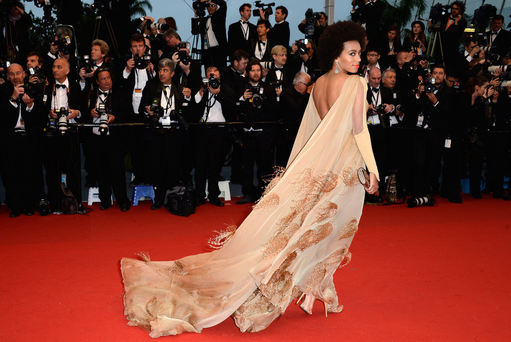 Solange manages a top #VoguishVoyeur glam shot at opening ceremony of Cannes Film Festival
