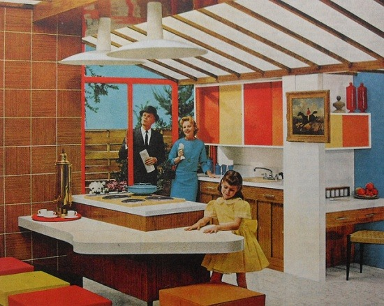 theniftyfifties:  1950s kitchen design.
