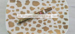 Check out the DIY Leopard Print Gold Leaf Tray by A Creative Day on The Daily Quirk!  (Image Credit: A Creative Day)