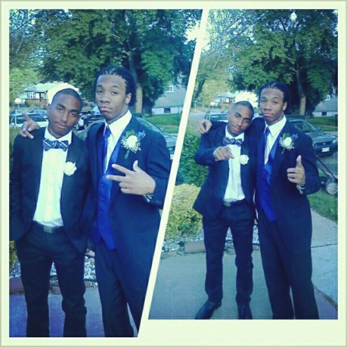 Me And My Blood @eeeleye_ Cleaner Than Some Pine Sol Baby!! Prom Here We Come!! #2013 #Prom #TheyNotReady