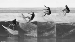 summerlovingallday:  carmenandeva:  Dane Reynolds jumping with his surfboard on the crest of the wave.  Queued xx