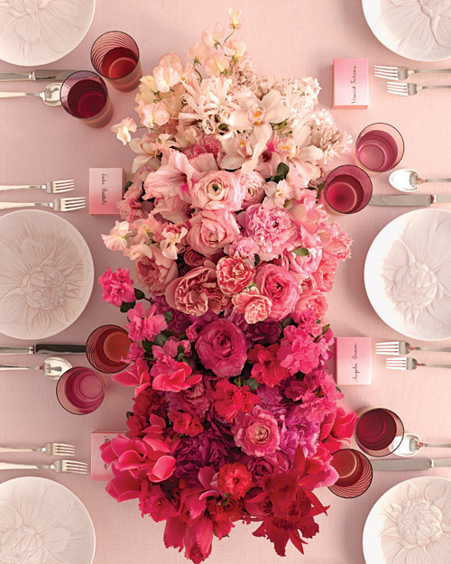 lacewings:  Ombre flowers - Martha Stewart Weddings