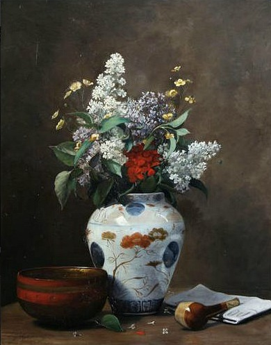 Georges Grimprel Still Life with Flowers 1873