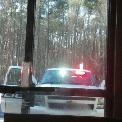 So either Durham PD is pulling over my radio shop or Hugh is checking out lights on this K9 unit :)