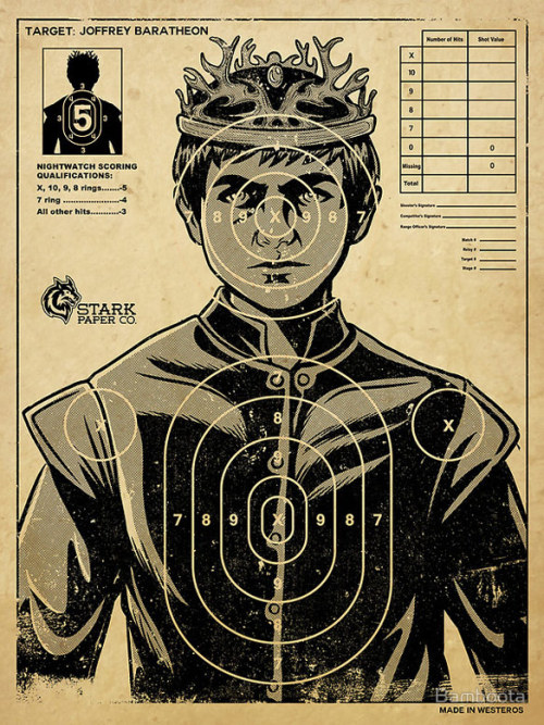 mahlibombing:  Game of Thrones Joffrey Perfect Target Poster Created by Bamboota Available from RedBubble (via: GeekAlerts)
