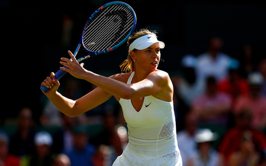 Maria Sharapova wasn't at her best, but still moves on at Wimbledon. (Getty Images)