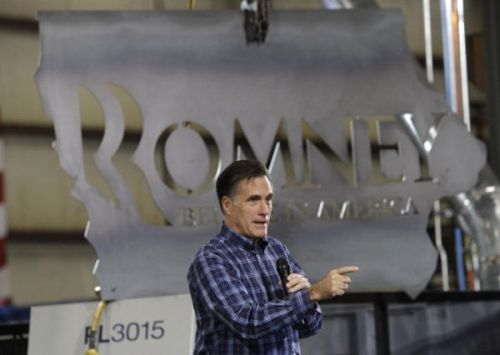 Ahh, the final nail in the coffin of the Romney campaign: Someone is giving away that enormous Romney for President steel sign that was carved into the shape of Iowa on Craigslist FOR FREE.