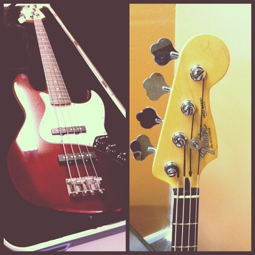 Once upon a time I began wanting a new bass. I had all rationality and my heart set on a simple, affordable Squier bass that resembled a Fender Jazz. Queue a wonderful man (@ppaulten) who thought of me when a friend decided to sell some gear, a price half as much as the Squier would have been and you have the story of how the Lord blessed me with not only a brand new bass but my dream bass right down to the colour scheme. I have been in shock over it but when I went to pick up this beautiful guitar, it was given to me in a lovely SKB case that he threw in for free… I am beyond words! God is so good 😊 #blessed #bestdayever #personal #blessing