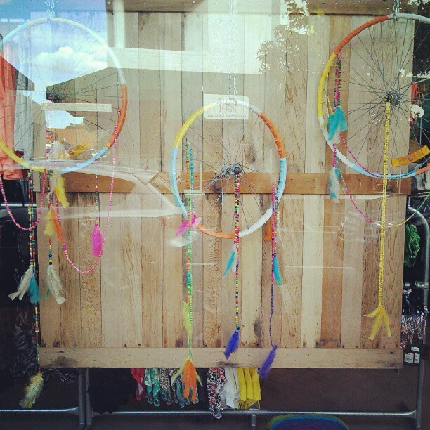 Bike wheel dream catchers <3