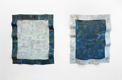 "sethadelsberger:  Tandem I and IIAcrylic on Canvas42"" x 36"" each2013   Seth Adelsberger"