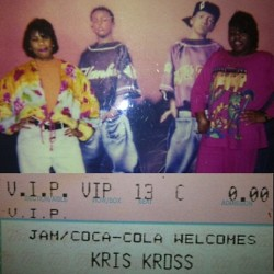 RIP Chris Kelly. My sis brought this throwback over. She took my cousin, @writerroyce, and I to see Kris Kross. I think it was '92. Get into those outfits lol. Notice how my lips match the flowers in my jacket. Obvs not ready for the pic 😂 Looks like both of our eyes are closed.           Good times!                      #rip #chriskelly #kriskross #tbt #90s