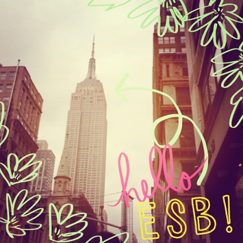 More fun with #ABeautifulMess app. #newyork #nyc #esb #skyscraper