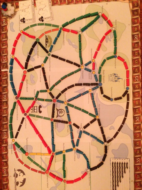 One game that is getting the Table Top hook in has been Ticket to Ride.  One of them also is a person who loves that character from the large multi billion dollar company, so I made a custom map we were playing on.  Still needs some work, but was a lot of fun!