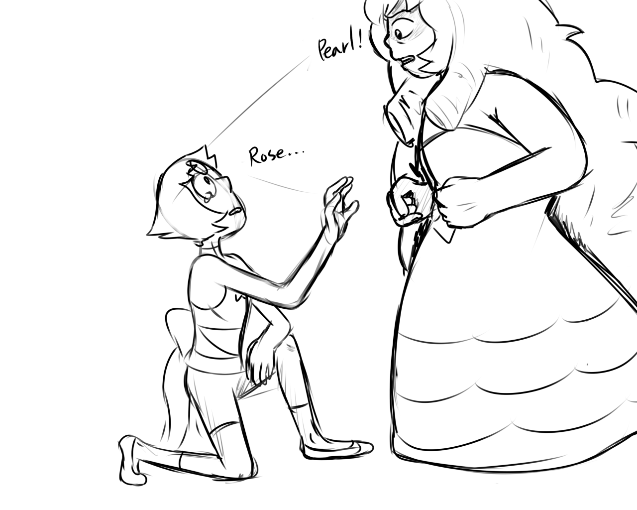 Rose & Pearl doodle