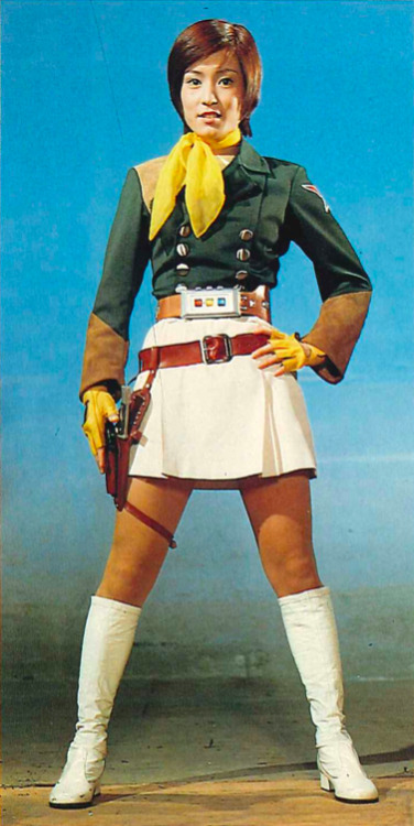 vintagehenshin:  Rei Maki in her full SSI gear from SUPER ROBOT RED BARON, 1971.
