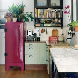 bohemianhomes:  Bohemian Homes: Pink retro Fridge