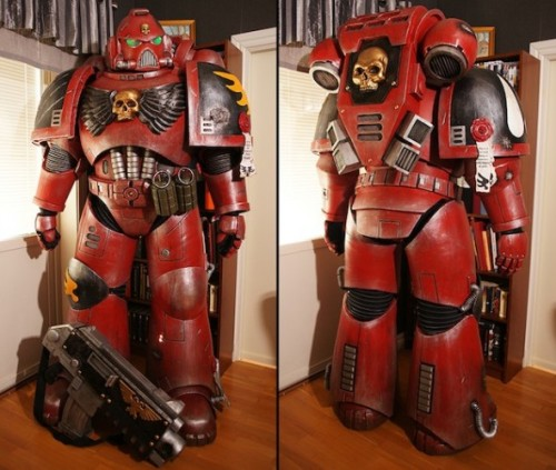 7-foot-tall Warhammer 40k Blood Angel costume will make you feel puny James Plafke, geek.com We don't normally cover cosplay all too much here on Geek, but when it's a seven-foot-tall, faithful recreation of a Blood Angel Space Marine from Warhammer 40k, we make exceptions. The first build…  You have to respect awesome costumes like this. Now if it was only a Demon Hunter …  #warhammer #cosplay