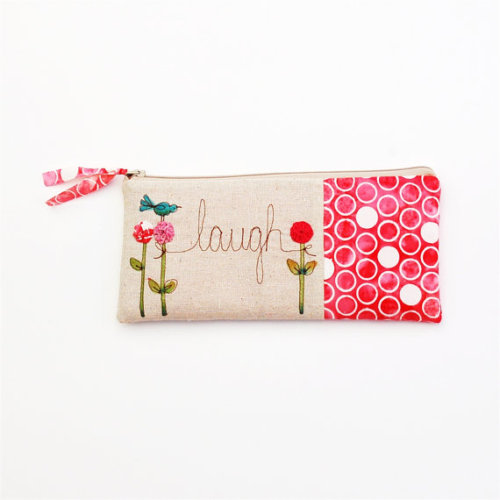 (via pink zipper purse polkadot clutch personalized by mamableudesigns)