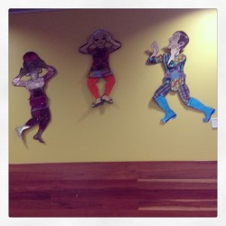 "This wall art was called ""speak no evil, but express yourself"". The NJC was pretty much the coolest place ever."