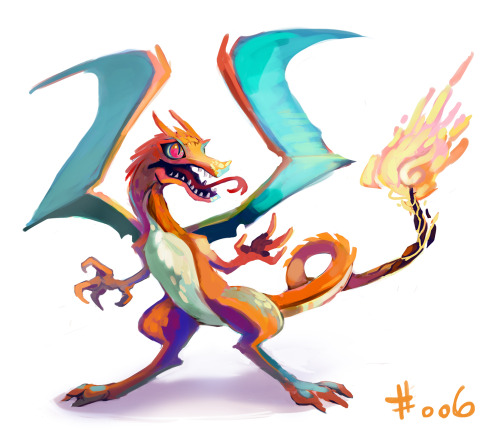 lauramakesart:  Charizard man. I had one on my red team that could !@# up your whole day if I had to bring it out. Water starter time. Its all just a long road to haunter from here.