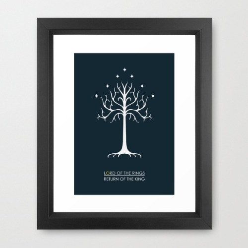 My Lord of the Rings Return of the King minimalist design is back at society6!  To get your hands on it in print form, or even as a tshirt (which looks better than ever!) to the silly extremes of a cushion head over to society6 now