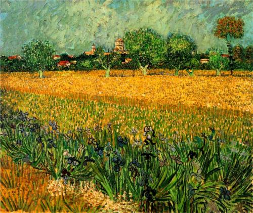View of Arles with Irises in the Foreground ~ Vincent van Gogh