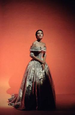 "Callas in Costume for her 1958, Covent Garden, Taviata.    discoabe:  ""I would not kill my enemies, but I will make them get down on their knees."" - Maria Callas"