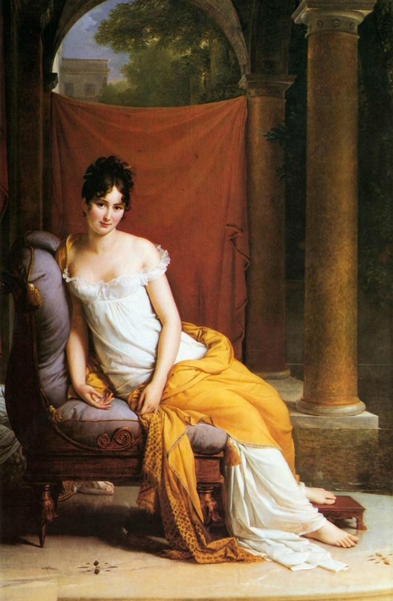 23silence:  Jacques-Louis David (1748-1825) - Madame Récamier