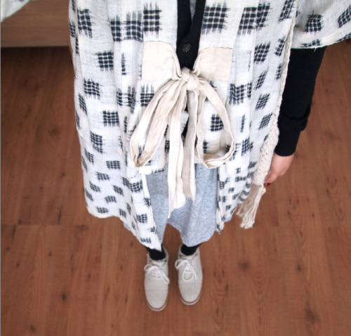madamecuriewasmymother:  This looked better irl; Visvim - Comme des Garcons PLAY - Vintage Noragi