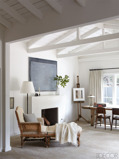 georgianadesign:  Ellen DeGeneres's Santa Monica mountain ranch. Elle Decor.