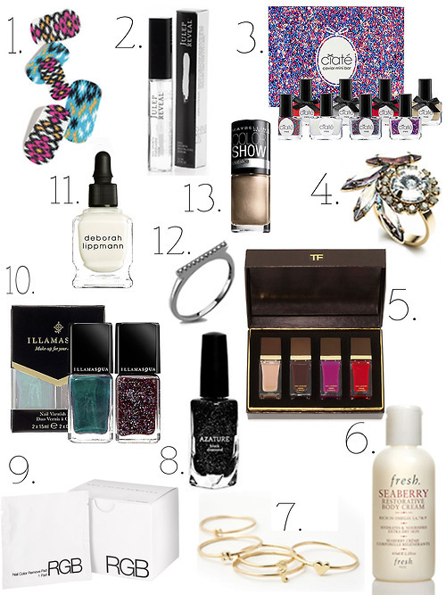 MLF's Gift Guide for the Manicure Maven Do you find Holiday shopping just as daunting as I do? Well, I'm here to help. Check out my picks for the Manicure Maven… here.