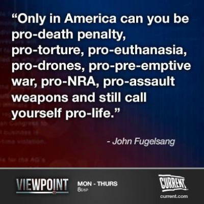 current:  John Fugelsang: Nobody has ever been pro-abortion
