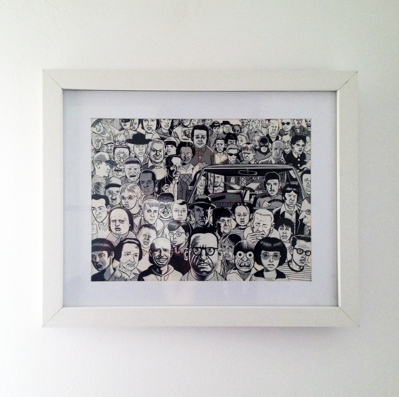 "artsandcrash:  Daniel Clowes Mob Collage - Using Materials of Daniel Clowes ""Bola Ocho"", Brut Comix"