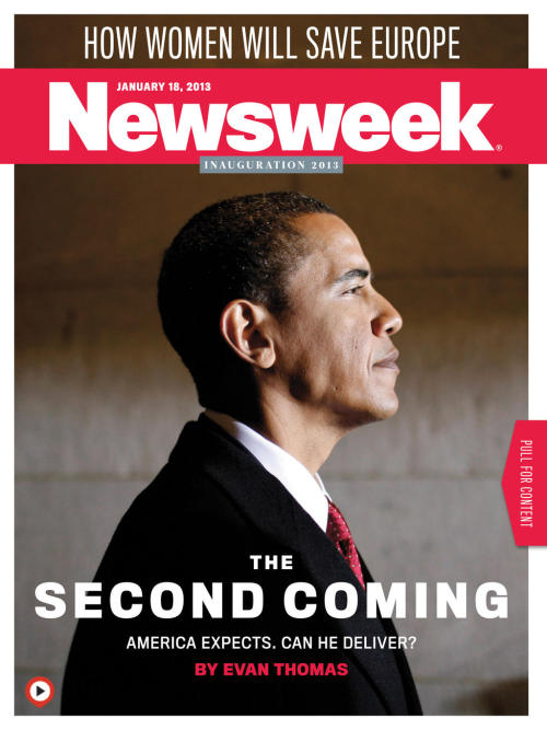 This week's cover previews the Inauguration. New issue's in the App Store! Grab it if you're looking for a weekend iPad read here. You can also read the cover story online here.  These are gloomy times for an inauguration. In Newsweek, Evan Thomas asks: On Monday, can the president rise to the occasion with a historically inspiring message?