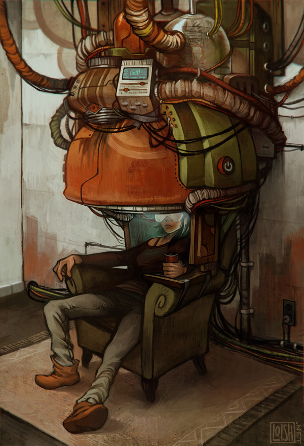latest update on deviantart. i'm digging grungy futuristic stuff lately (had this lying around since august but watching looper this week definitely gave me some motivation to finish it off!). also inspired by koji morimoto's awesome art.