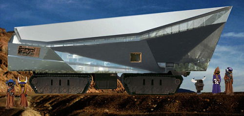 "uproxx:  The New Vikings Stadium Looks Like The Sandcrawler In Star Wars       ""These aren't the droids you're looking for."""