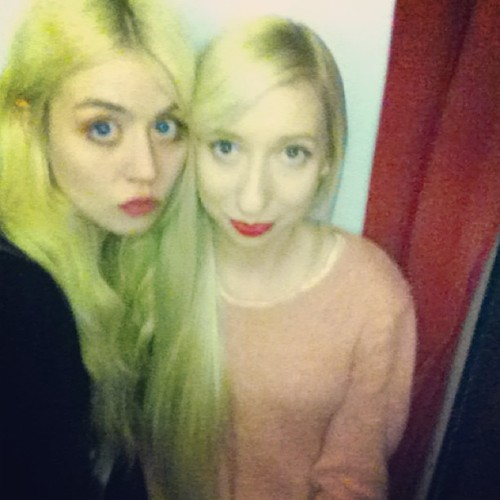 Allison Harvard and I. This is insane. She is the nicest person.