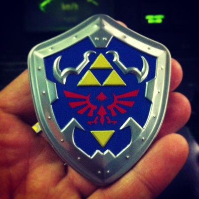 This shield will protect me from work! #zelda #candies