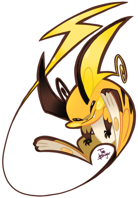 Day 31: Favorite Pokemon Of All Time-Raichu My fav since childhood. I actually finished a challenge. It was really fun and I'm wondering if I should do more of these in the future? Or maybe more Pokemon.