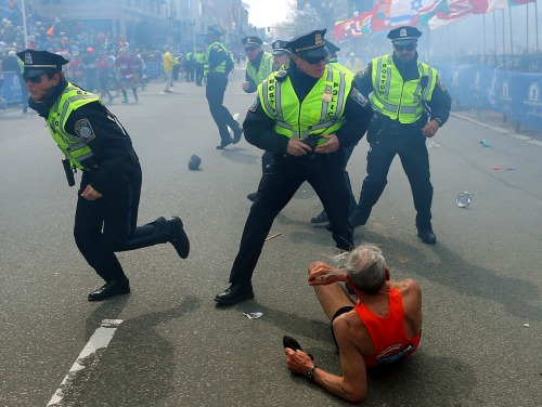 usatoday:  The subject of what has become the iconic photo of Monday's Boston Marathon bombing is 78-year-old Bill Iffrig. After being helped to his feet, he finished the race. The story: http://usat.ly/12iZyOR (Photo by John Tlumacki, Boston Globe via AP)