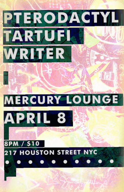 WRITER x Mercury Lounge // April 8