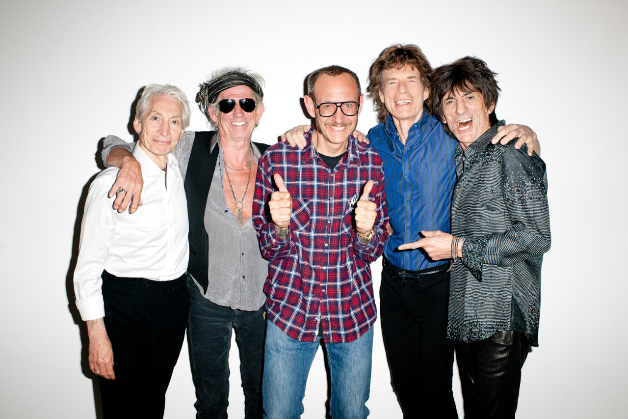 terrysdiary:  Me and The Rolling Stones at my studio.