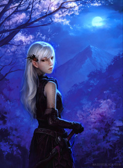 senseorsensuality:  Elven Girl by Moonlight by ~ConceptArtOrg