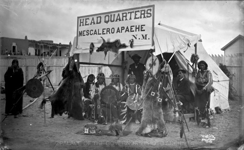 Apache Headquarters at Tertio-Millennial Santa Fe, New Mexico - 1883 Photo By: Ben Wittick Negative #015922